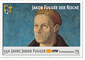 """550 JahreJakob Fugger""Standardbrief 75 Ct."