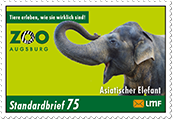 """Augsburger Zoo""Standardbrief 75 Ct."