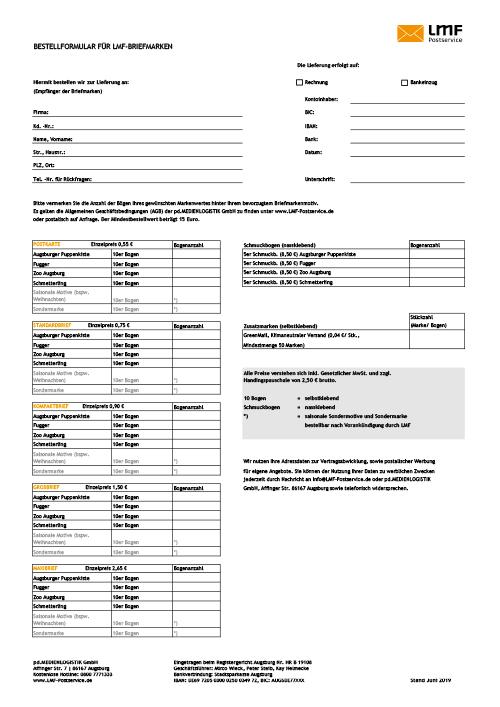 Briefmarkenbestellung Info Und Mediencenter Logistic Mail Factory
