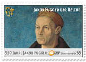 """550 JahreJakob Fugger""Standardbrief 65 Ct."